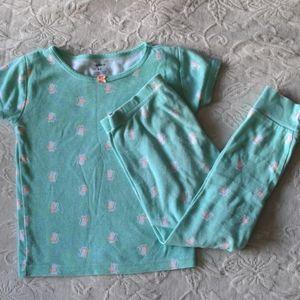 Mint Cat Pajamas Set * 4T